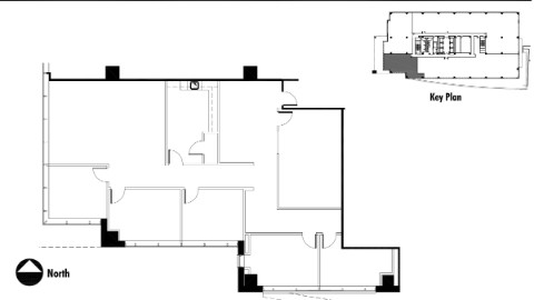 Floor plan of office space for rent Atlanta