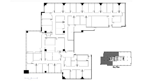 Office space Atlanta: Floor plan of Suite 750